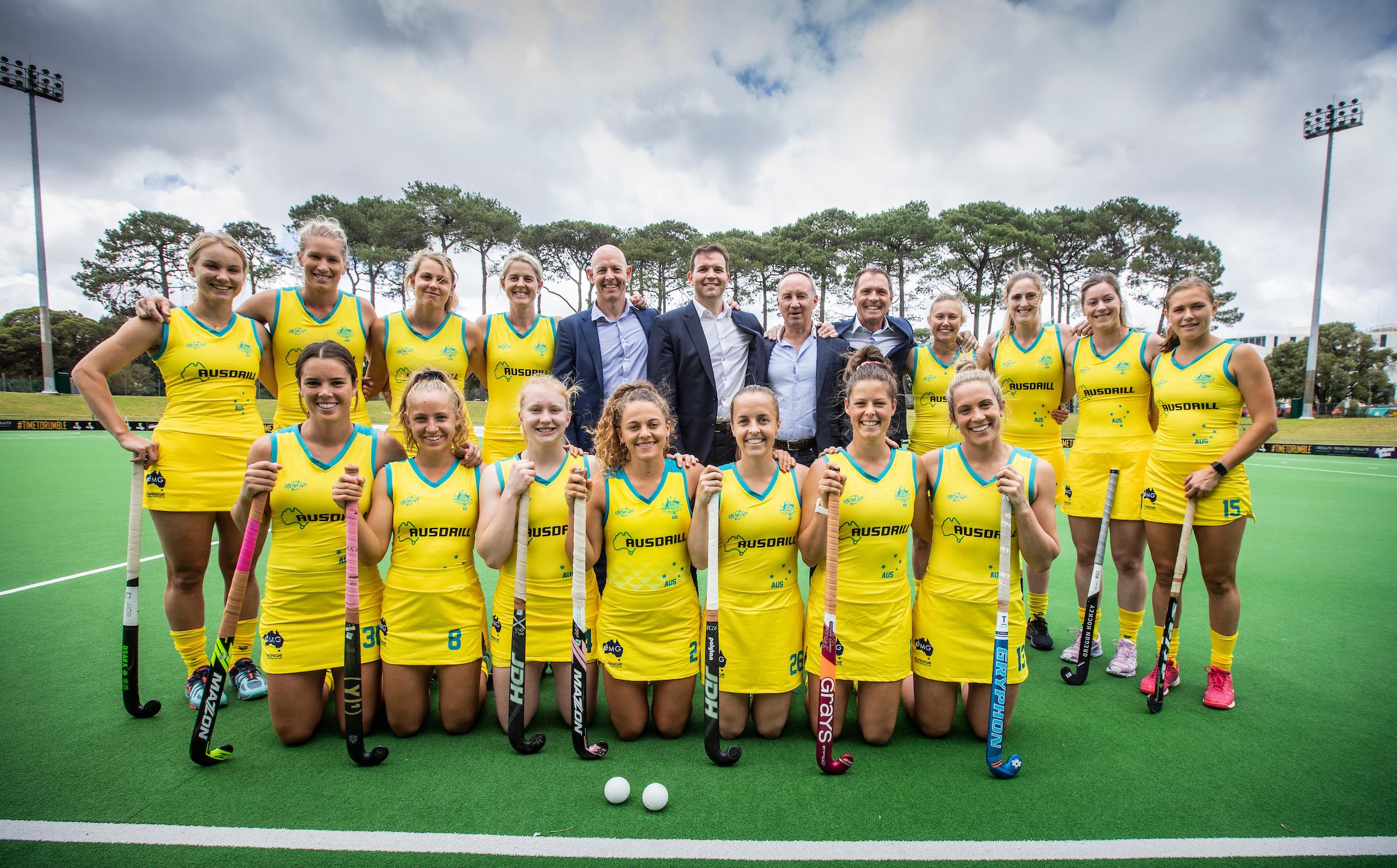 Ten up as Ausdrill renews as Hockeyroos' Naming Rights Partner • C3A7965