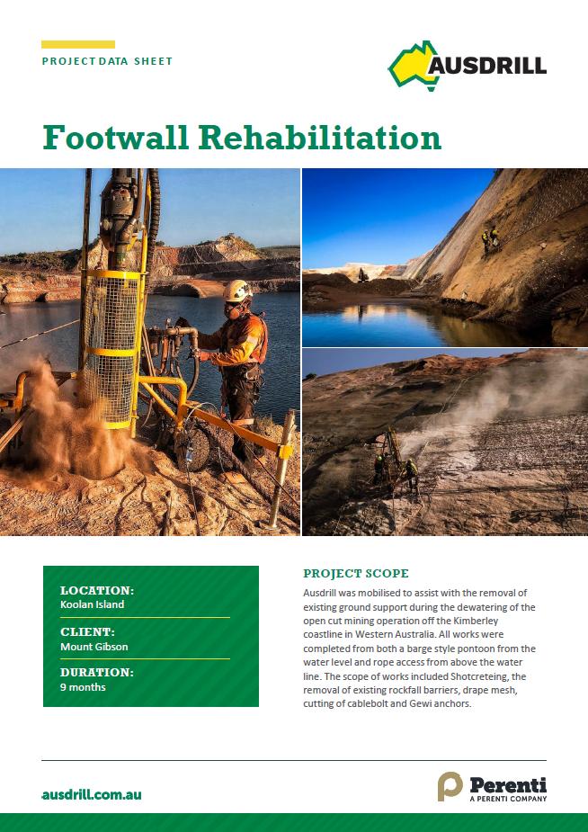 Koolan Island Footwall Rehabilitation – 2019